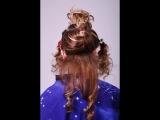 Причёски с накладными прядями. Очень красиво)))